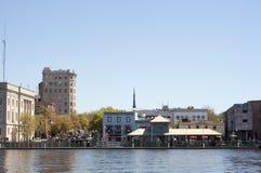 nc w centrum riverwalk Wilmington Obrazy Royalty Free