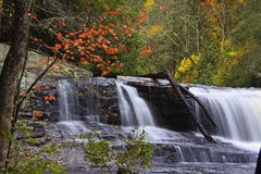 NC Waterfall in Autumn Royalty Free Stock Photo