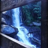 NC Waterfall. Waterfall in the mountains of NC Stock Photo