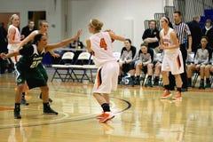 NCAA女子的篮球 免版税库存图片