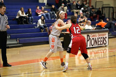NCAA女子的篮球 免版税图库摄影