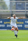 2015 NCAA女子的足球-维拉诺瓦@ WVU 库存照片