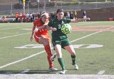 NCAA女子的足球 免版税库存照片