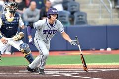2015 NCAA棒球- WVU-TCU 免版税库存图片