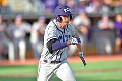 2015 NCAA棒球- WVU-TCU 库存图片