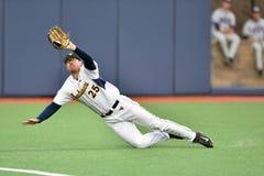 2015 NCAA棒球- WVU-TCU 免版税图库摄影