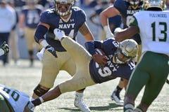 2015 NCAA橄榄球-海军的南佛罗里达 库存照片