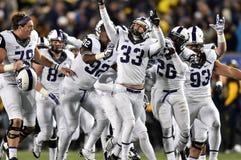 2014 NCAA橄榄球- TCU-WVU 免版税图库摄影