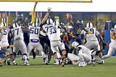 2014 NCAA橄榄球- TCU-WVU 库存图片