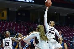 2014 NCAA篮球-女子的篮球 免版税库存照片