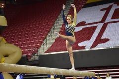 2015 NCAA γυναικεία γυμναστική - WVU Στοκ φωτογραφία με δικαίωμα ελεύθερης χρήσης