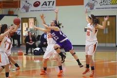 NCAA καλαθοσφαίριση κοριτσιών Στοκ Εικόνες