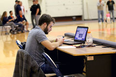 NCAA καλαθοσφαίριση των ατόμων Στοκ εικόνα με δικαίωμα ελεύθερης χρήσης