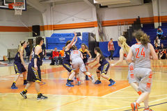 NCAA καλαθοσφαίριση των γυναικών Στοκ εικόνες με δικαίωμα ελεύθερης χρήσης