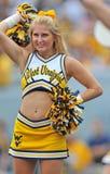 NCAA 2012 - Ragazza pon pon di WVU Fotografia Stock Libera da Diritti