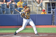 2015 NCAA baseball - TCU @ WVU Fotografia Stock