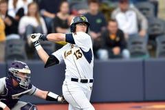 2015 NCAA baseball - WVU-TCU Fotografia Stock