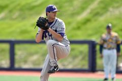 2015 NCAA-Baseball - WVU-TCU Stockbilder