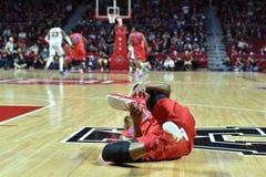 2015 NCAA-basket - GNETkvartsfinalTempel-La teched arkivbild