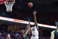 2014 NCAA Basketbal - de actie van het de Tempelspel van Towson @ Royalty-vrije Stock Afbeelding