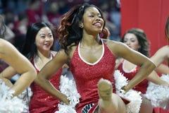2014 NCAA Basketbal - de actie van het de Tempelspel van Towson @ Stock Foto