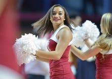 2014 NCAA Basketbal - de actie van het de Tempelspel van Towson @ Royalty-vrije Stock Foto's