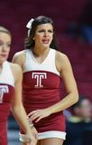 2014 NCAA Basketbal - de actie van het de Tempelspel van Towson @ Royalty-vrije Stock Fotografie