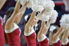 2014 NCAA Basketbal - de actie van het de Tempelspel van Towson @ Stock Afbeelding