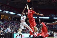 2016 NCAA Basketbal - Houston bij Tempel Stock Afbeelding