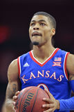 2014 NCAA Basketbal - Kansas bij Tempel Royalty-vrije Stock Fotografie