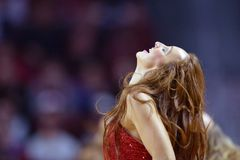 2015 NCAA Basketbal - NIT-Kwartfinales tempel-La technologie Royalty-vrije Stock Foto