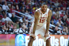 2015 NCAA Basketbal - tempel-Tulane Royalty-vrije Stock Afbeeldingen