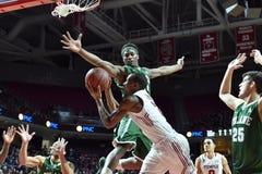 2015 NCAA Basketbal - tempel-Tulane Stock Afbeelding