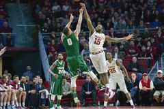 2015 NCAA Basketbal - tempel-Tulane Stock Foto's