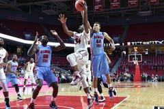 2015 NCAA Basketbal - Tempel versus de Staat van Delaware Stock Fotografie