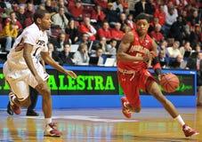 NCAA Basketball 2012 - drive to the hoop Royalty Free Stock Photos