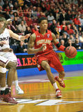 NCAA Basketball 2012 - drive to the hoop Stock Images