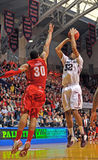 NCAA Basketball 2012 - jumper Royalty Free Stock Images