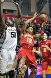 Ncaa-Basketball 2012 - weg vom Schwerpunkt Lizenzfreie Stockbilder