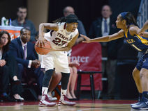 2014 NCAA-Basketball - der Basketball der Frauen Stockbilder