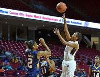 2014 NCAA-Basketball - der Basketball der Frauen Stockfoto