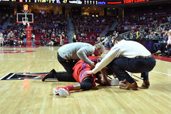 2015 NCAA Basketball - NIT Quarterfinals Temple-La. Tech Royalty Free Stock Images