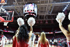 2015 NCAA Basketball - Temple-Tulane. PHILADELPHIA - JANUARY 31: The Temple Diamond Gems dance teams perform prior to the AAC conference college basketball game Stock Images