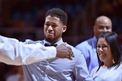 2015 NCAA-Basketball - WVU-Oklahoma-Staat Lizenzfreie Stockbilder