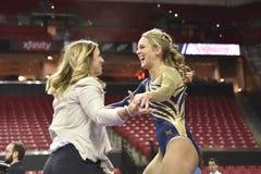 2015 NCAA dam gimnastyki - WVU Zdjęcie Royalty Free