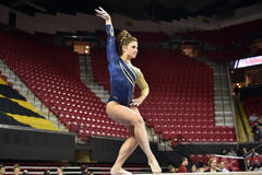2015 NCAA-Damen-Gymnastik - WVU Lizenzfreie Stockfotografie