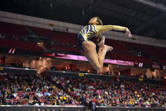 2015 NCAA-Damen-Gymnastik - WVU Stockfoto