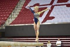 2015 NCAA-Damen-Gymnastik - WVU Stockfotografie