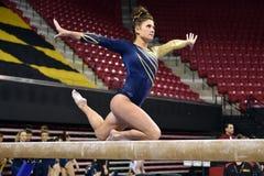 2015 NCAA Damesgymnastiek - WVU Stock Foto