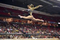 2015 NCAA Damesgymnastiek - WVU Royalty-vrije Stock Foto's